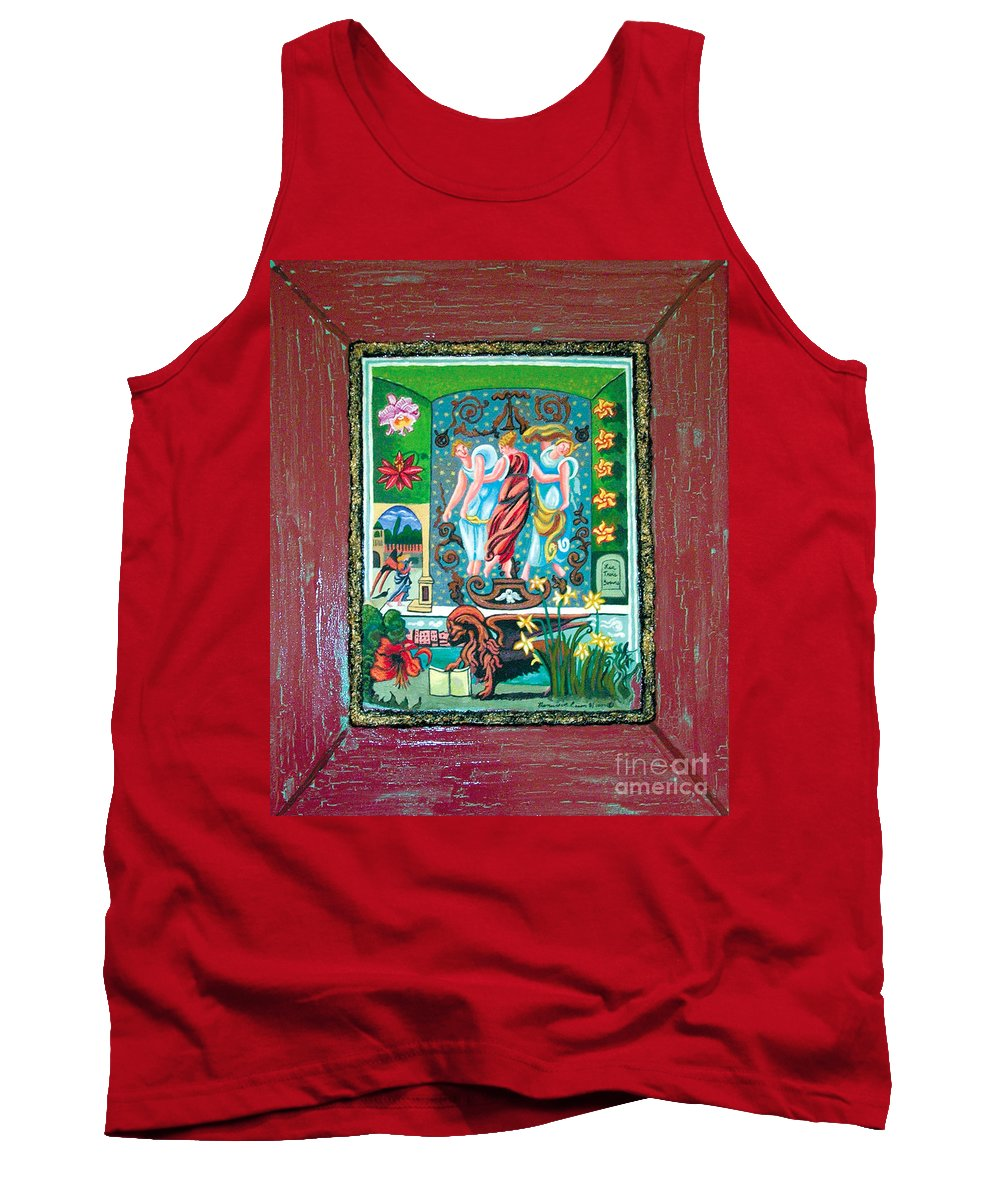 Women Tank Top featuring the painting The Three Sisters by Genevieve Esson
