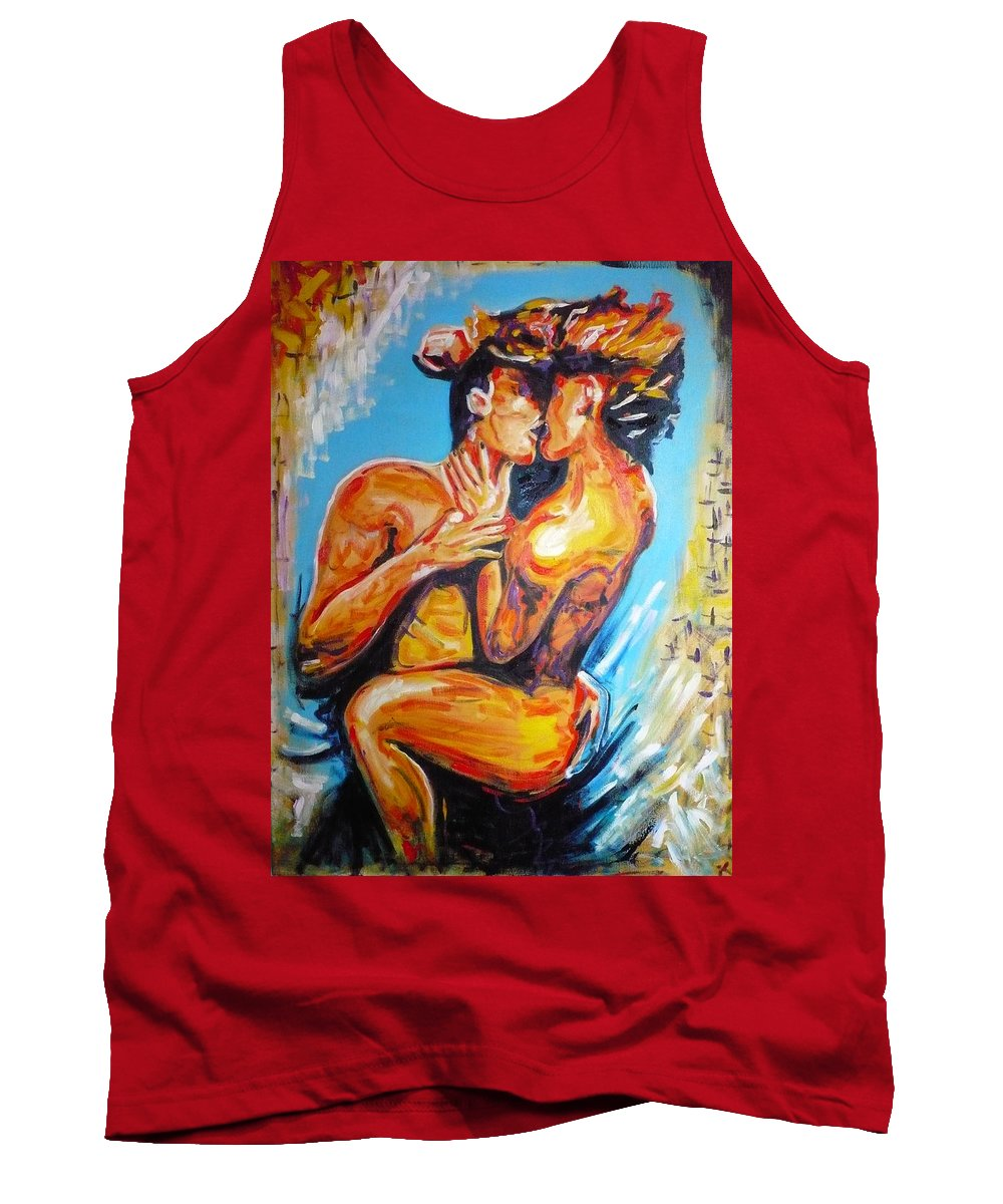 Lovers Tank Top featuring the painting The True Lovers by Ericka Herazo