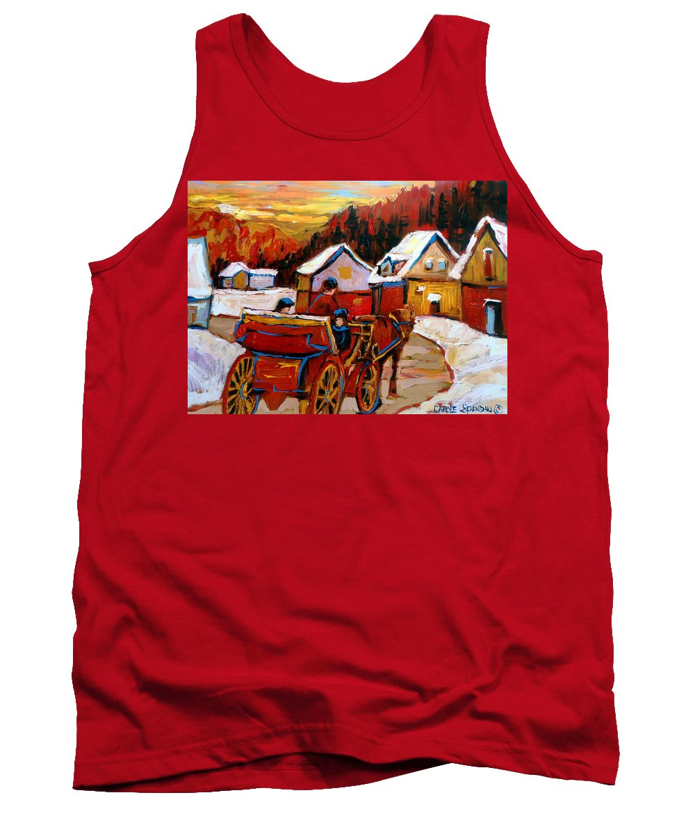 Saint Jerome Tank Top featuring the painting The Village Of Saint Jerome by Carole Spandau