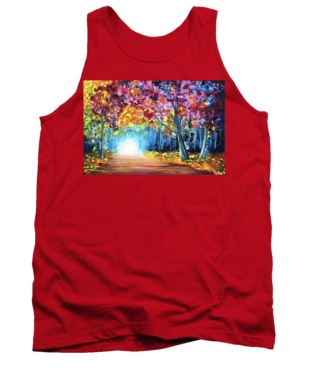 The Tank Top featuring the painting The Way Home, Vol.1 by Nelson Ruger