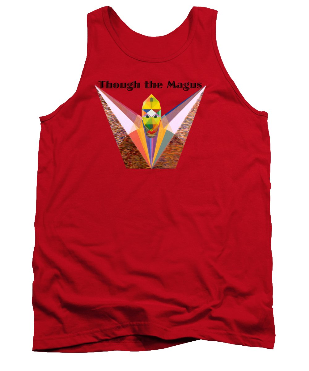 Painting Tank Top featuring the painting Though the Magus text by Michael Bellon