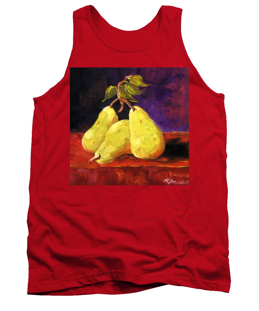 Art Tank Top featuring the painting Three Buddies by Richard T Pranke