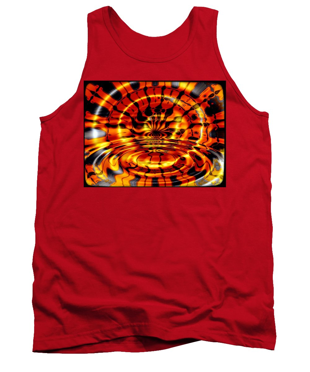 Fractal Tank Top featuring the digital art Tiger's Eye by Robert Orinski