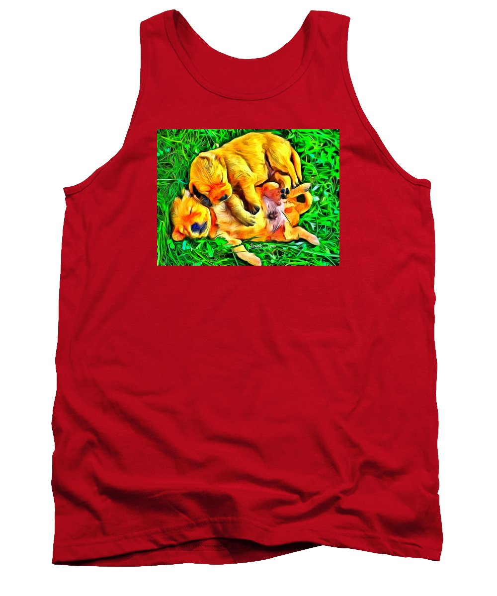 Academic Tank Top featuring the painting Time For A Siesta by Leonardo Digenio