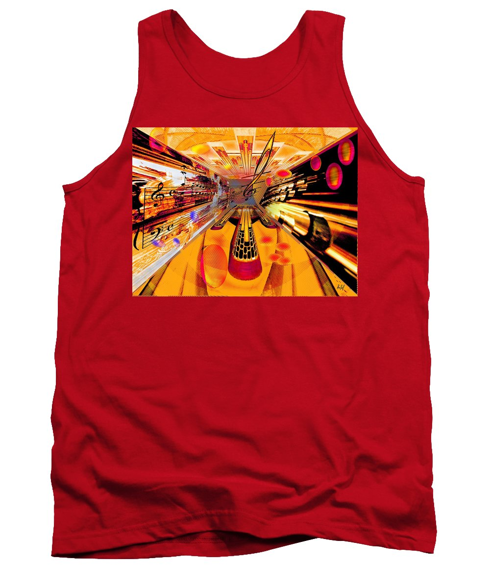 Toccata Tank Top featuring the digital art Toccata- Masters View by Helmut Rottler