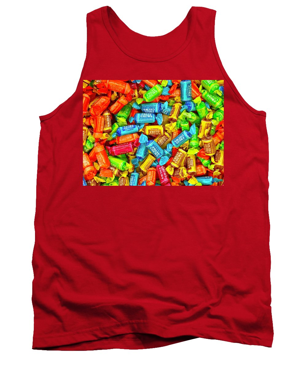 Candy Tank Top featuring the photograph Tootsie Fruit Chews by Daniel Thompson
