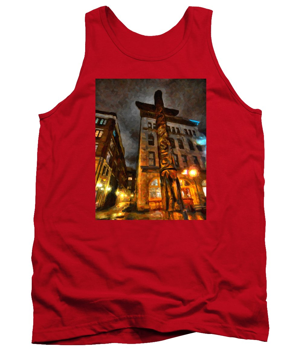 Market Tank Top featuring the painting Totem In The City by Andre Faubert