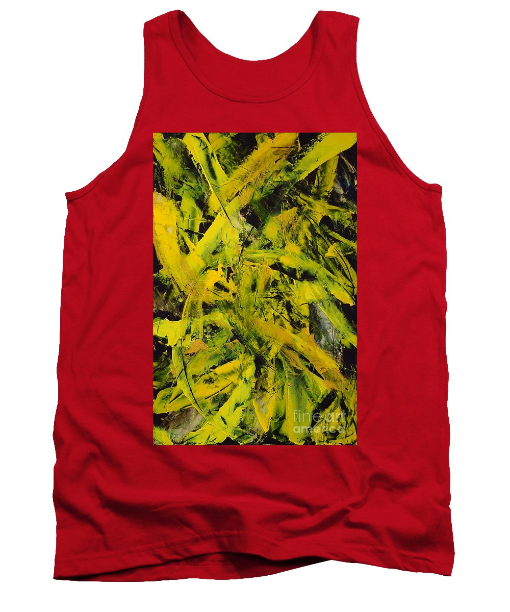 Abstract Tank Top featuring the painting Transitions Vi by Dean Triolo