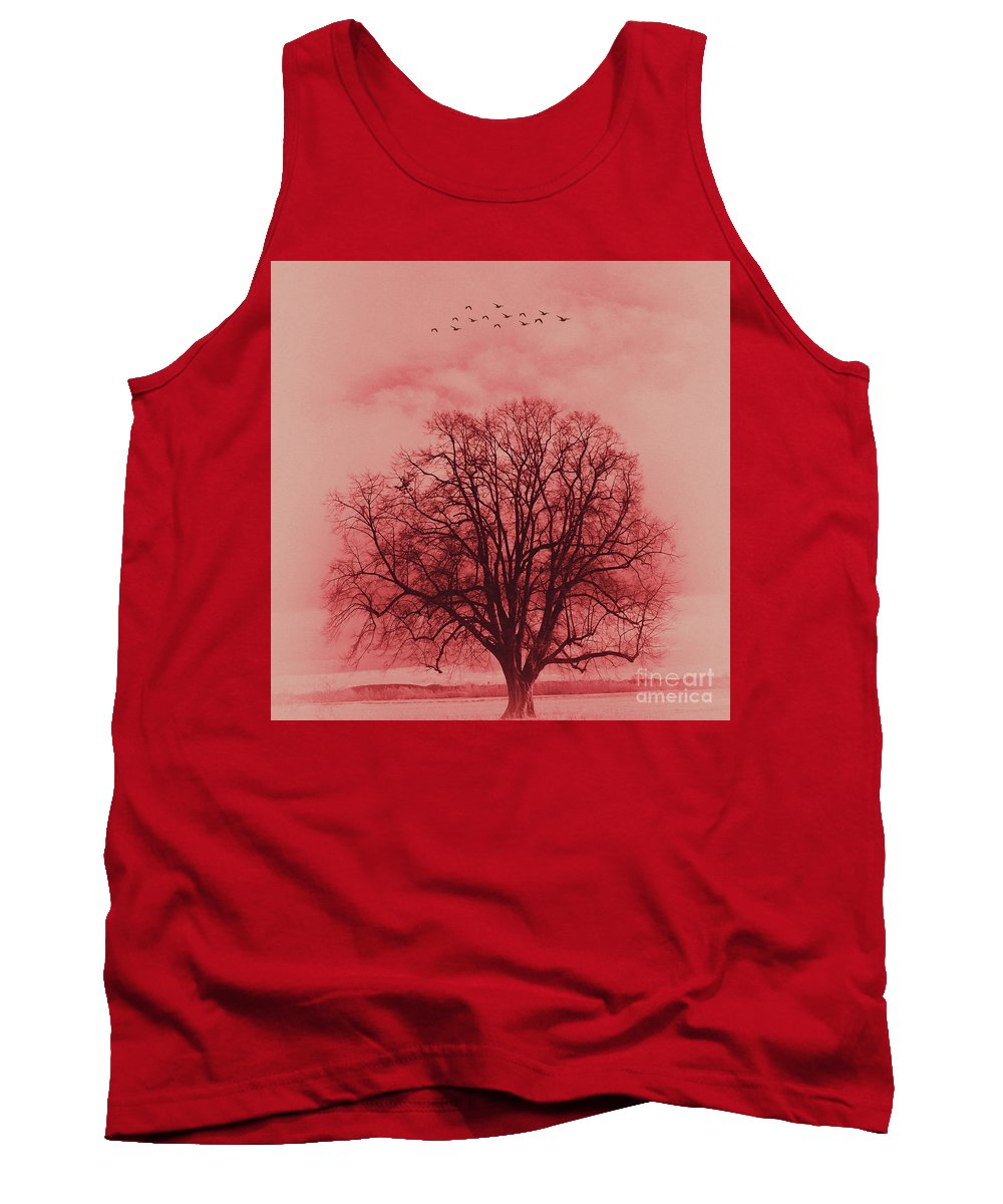 Painting Tank Top featuring the painting Tree Art 01 by Gull G
