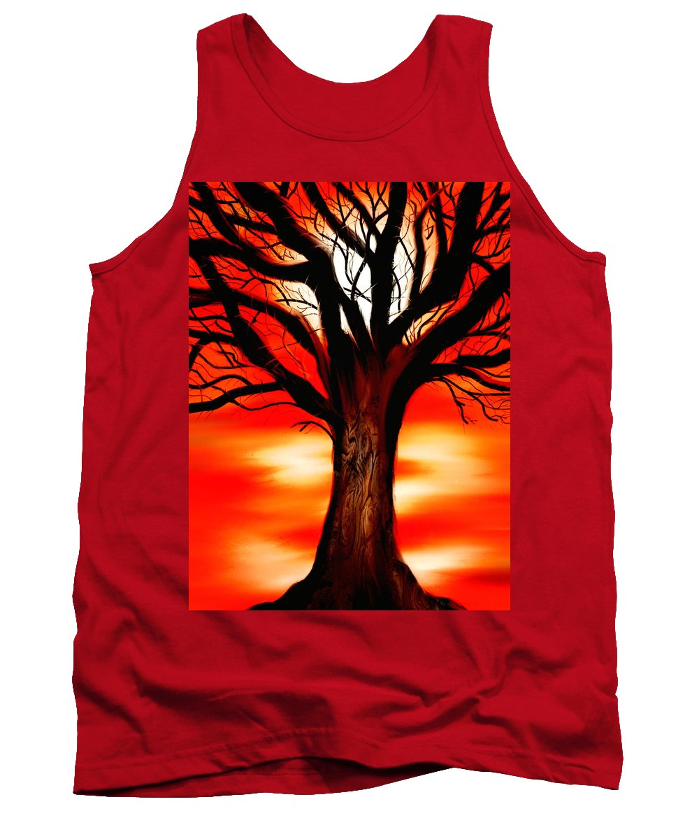 Tree Tank Top featuring the painting Tree by Dave H