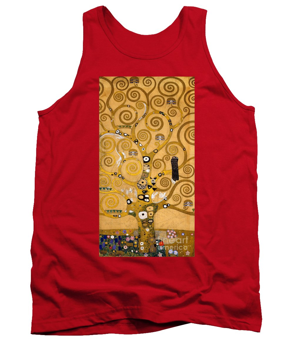Klimt Tank Top featuring the painting Tree Of Life by Gustav Klimt