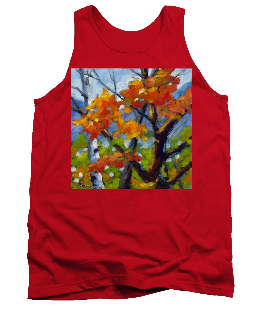 Art For Sale Tank Top featuring the painting Tree Tops by Richard T Pranke