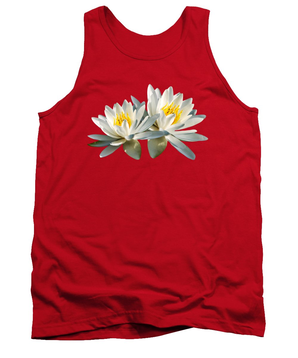Water Lily Tank Top featuring the photograph Tropical Water Lily by Christina Rollo
