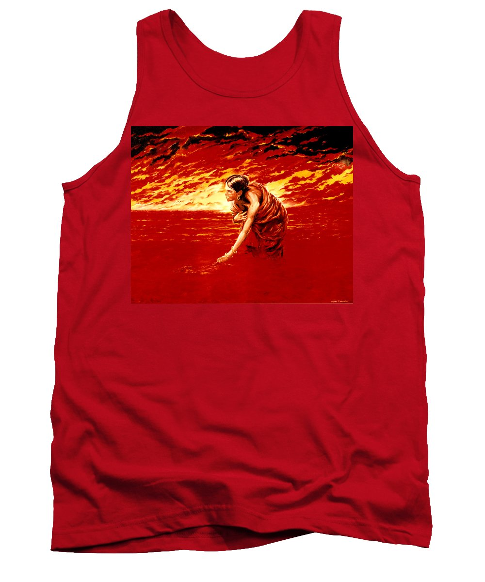 Seascape Tank Top featuring the painting Tsunami by Mark Cawood