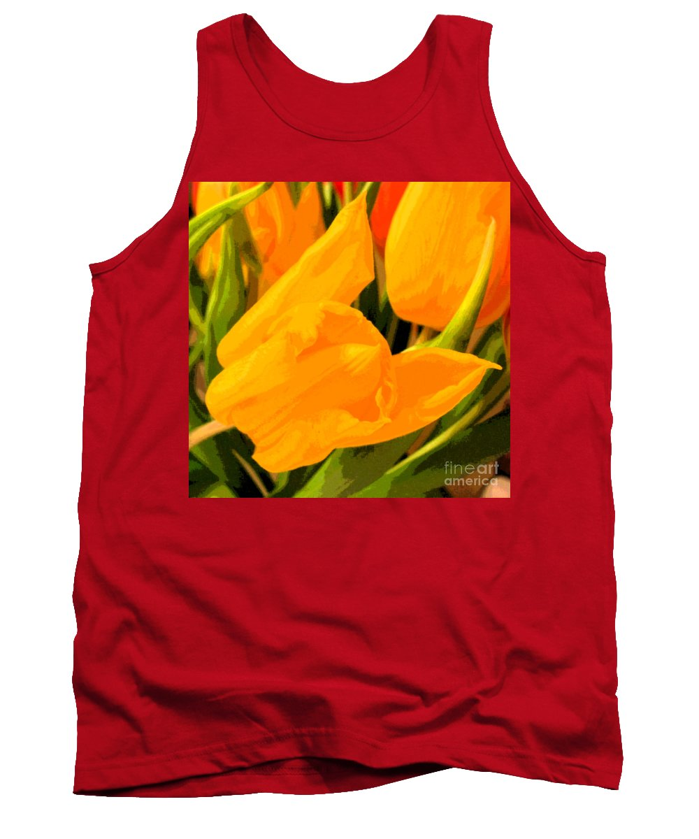 Tulip Tank Top featuring the photograph Tulips by Amanda Barcon