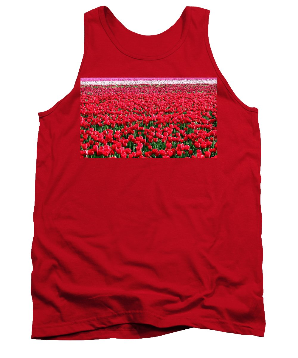 Tulips Tank Top featuring the photograph Tulips By The Million by Will Borden