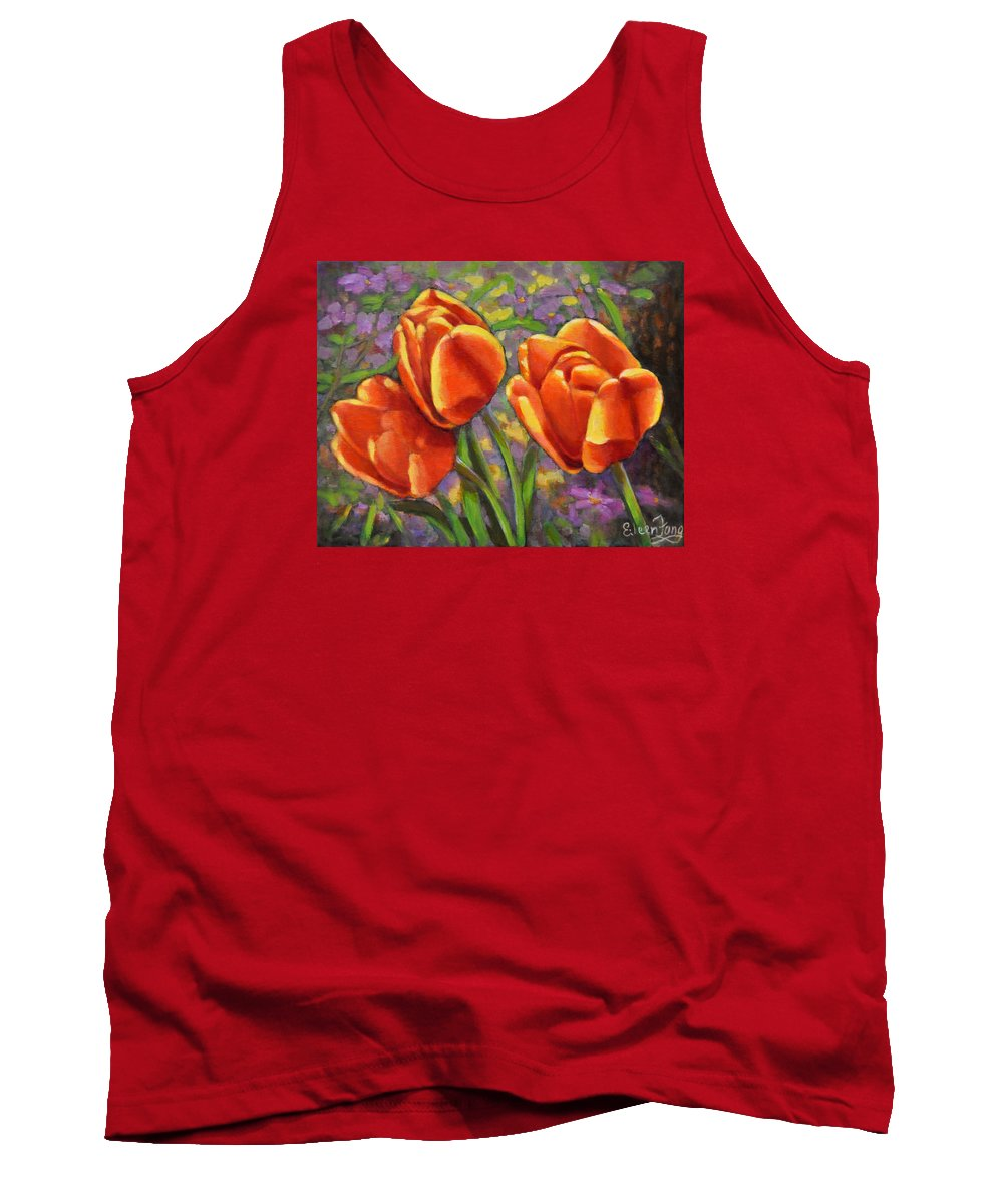 Tulips Tank Top featuring the painting Tulips In The Sun by Eileen Fong