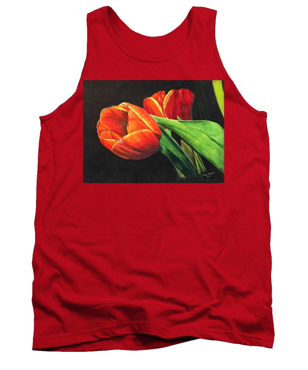 Tulips Tank Top featuring the painting Tulips by Kara Overbee
