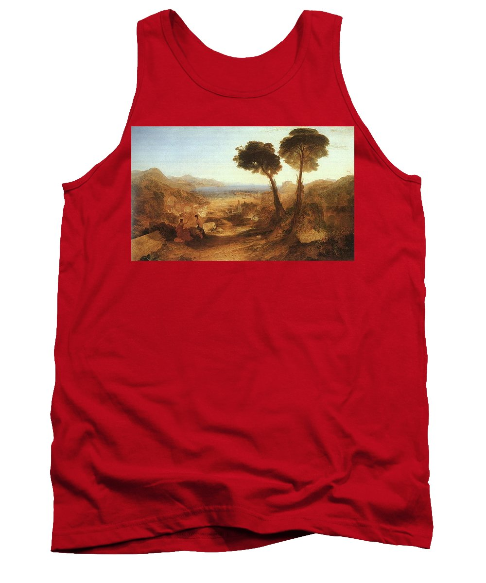 Yucca Tank Top featuring the digital art Turner Joseph The Bay Of Baiae With Apollo And The Sibyl Joseph Mallord William Turner by Eloisa Mannion