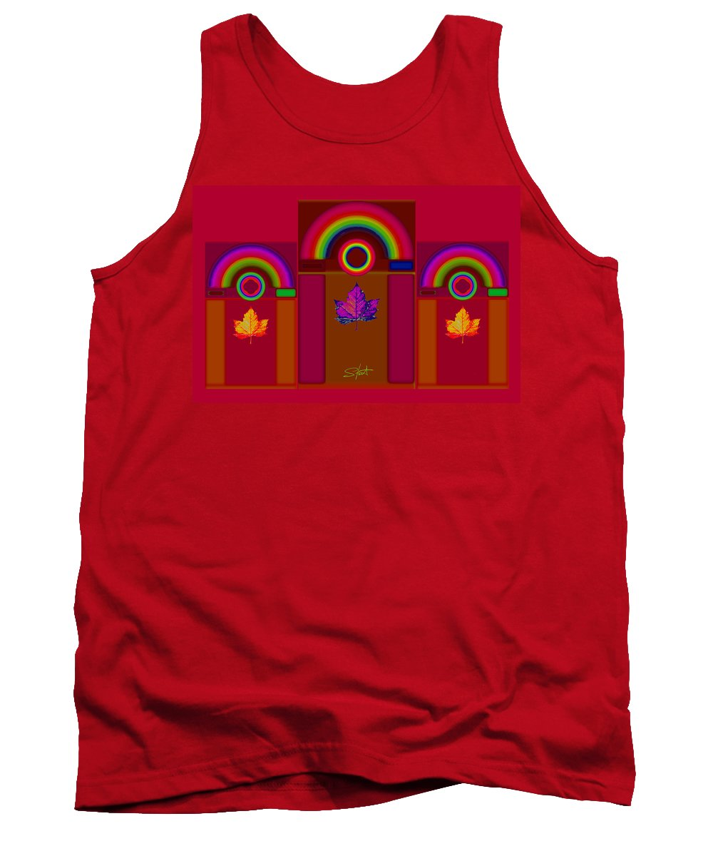 Classical Tank Top featuring the digital art Tuscan Fall by Charles Stuart