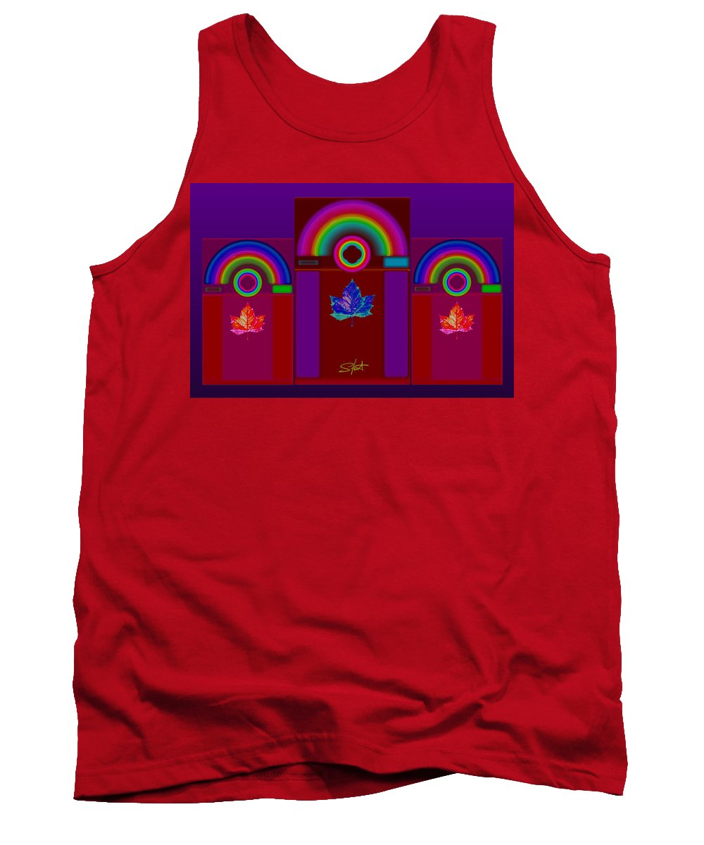 Classical Tank Top featuring the digital art Tuscan Storm by Charles Stuart