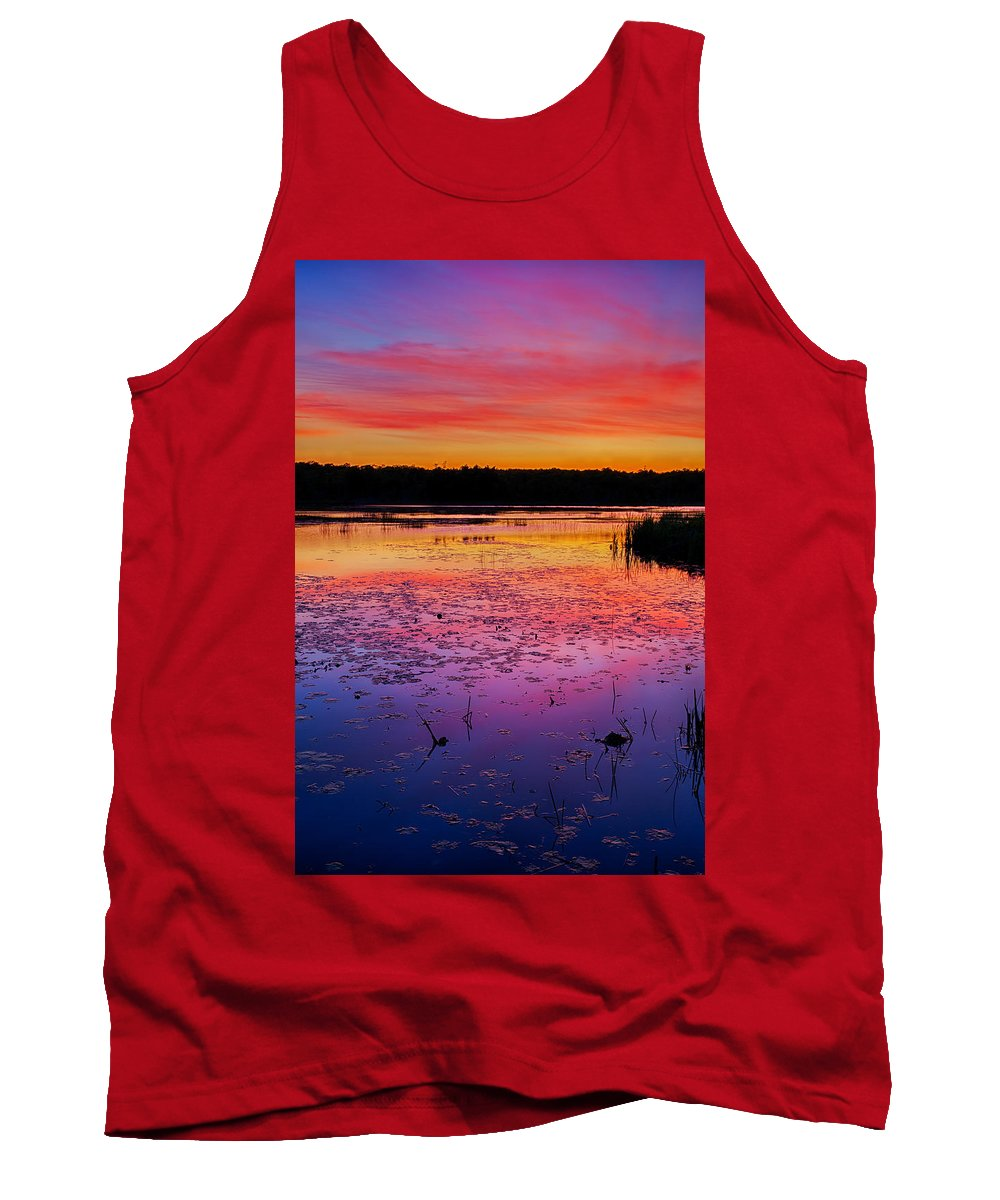 Twilight Tank Top featuring the photograph Twilight Afterglow #1 by Irwin Barrett