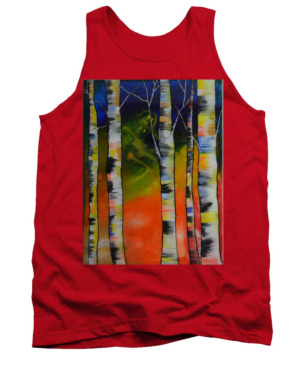 Abstract Tank Top featuring the painting Twilight by Heather Lovat-Fraser