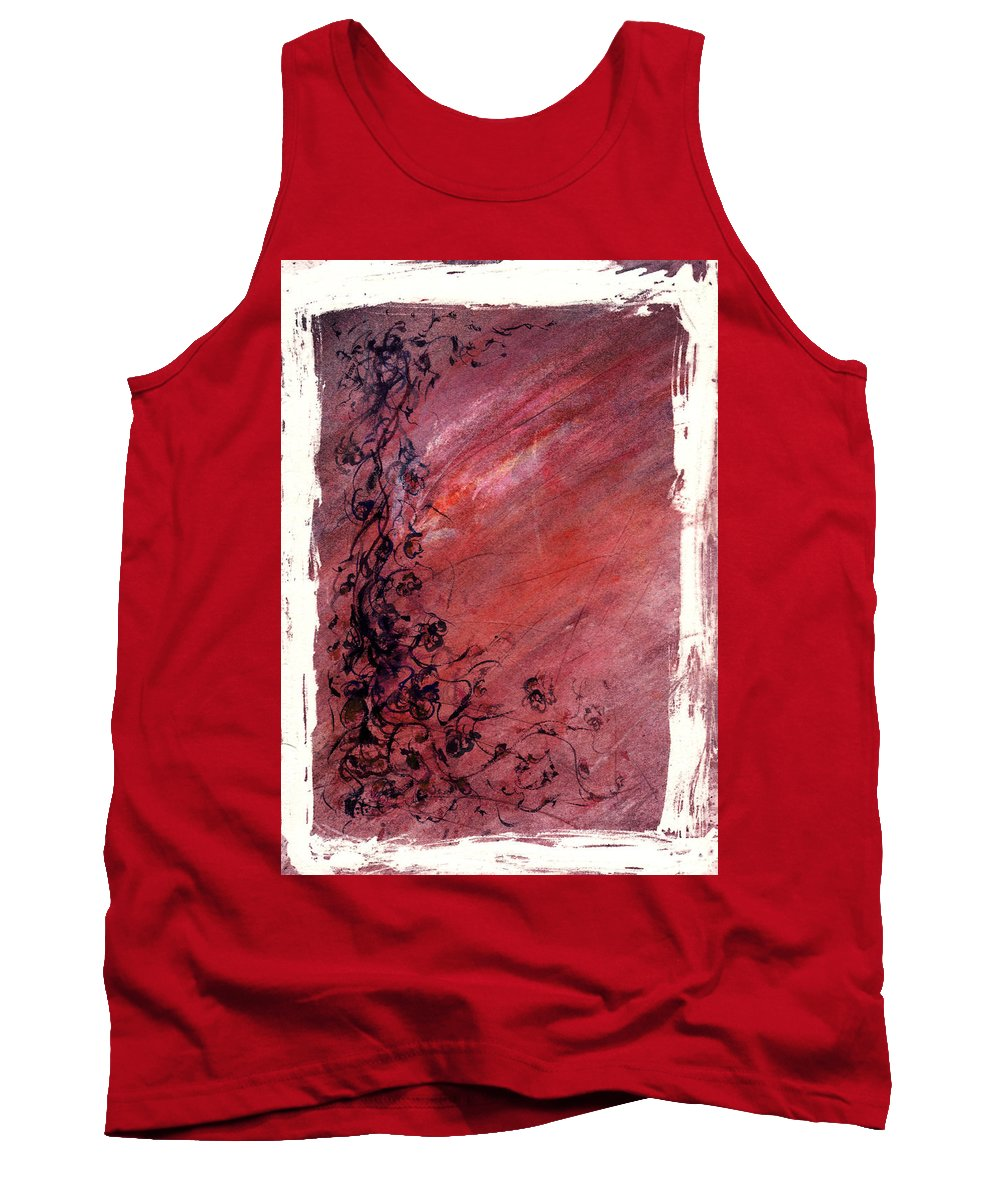 Floral Tank Top featuring the painting Twilight Rose by Rachel Christine Nowicki