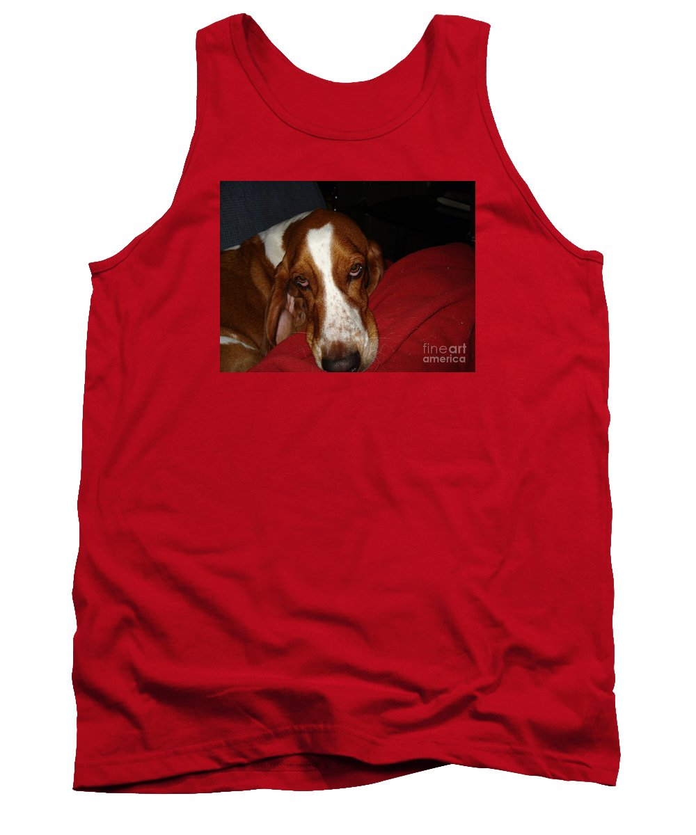 Basset Hound Tank Top featuring the photograph Tyler The Bassett by Madilyn Fox