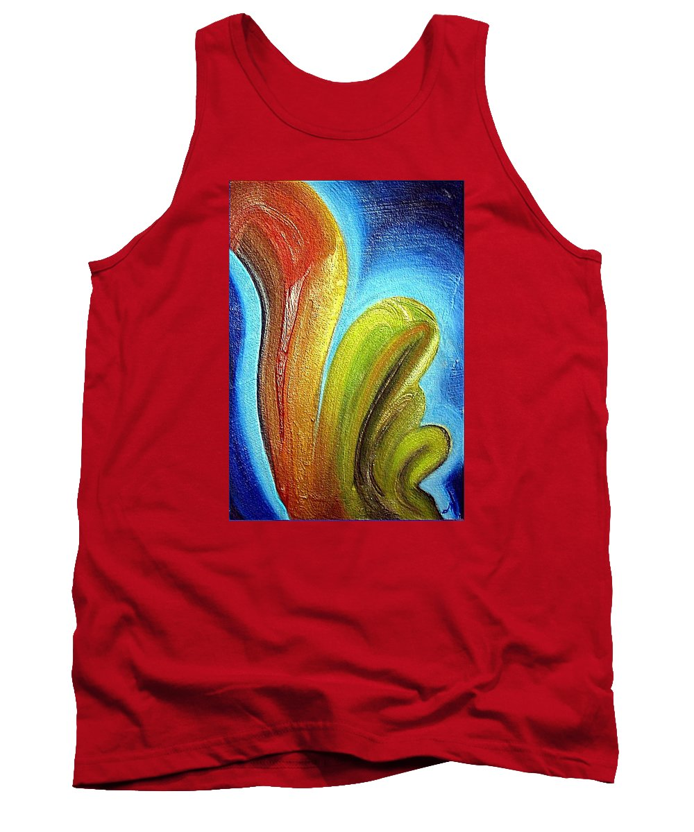 Mixed Media Tank Top featuring the mixed media Tzunami by Dragica Micki Fortuna