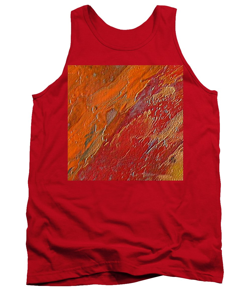 Encaustic Painting Tank Top featuring the painting Uncontrollable Passion by Dragica Micki Fortuna
