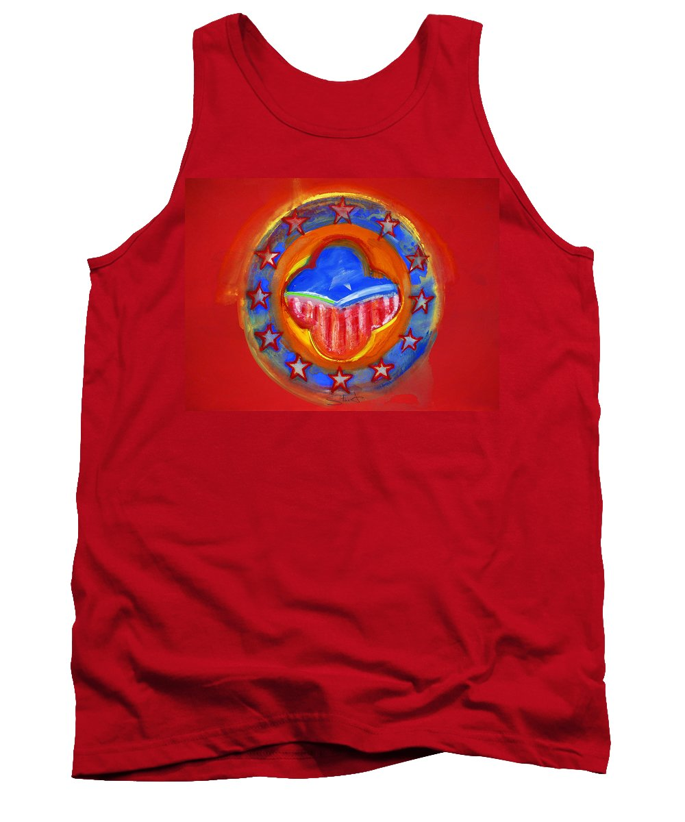 Symbol Tank Top featuring the painting United States Of Europe by Charles Stuart