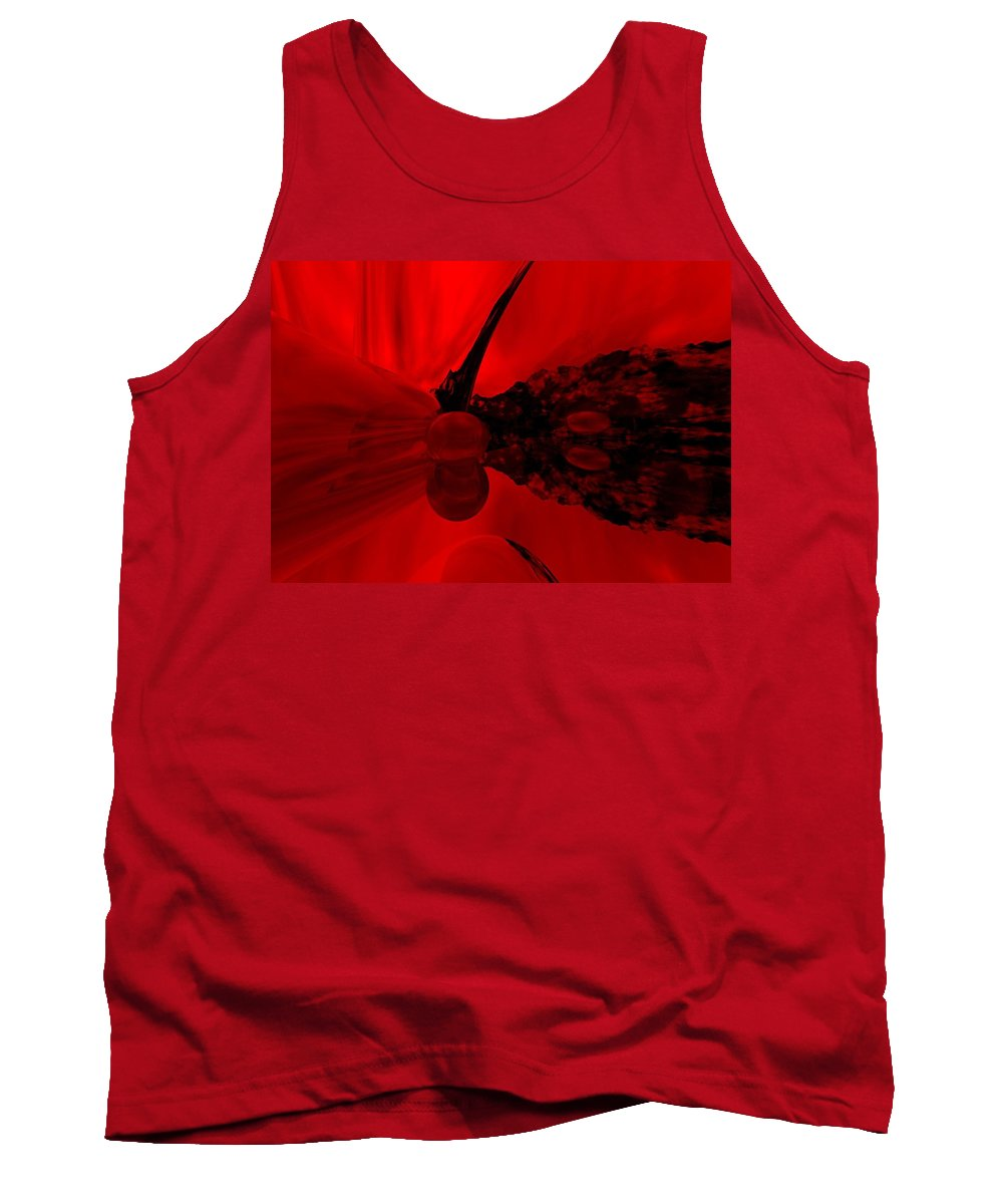 Abstract Tank Top featuring the digital art Untitled by David Lane