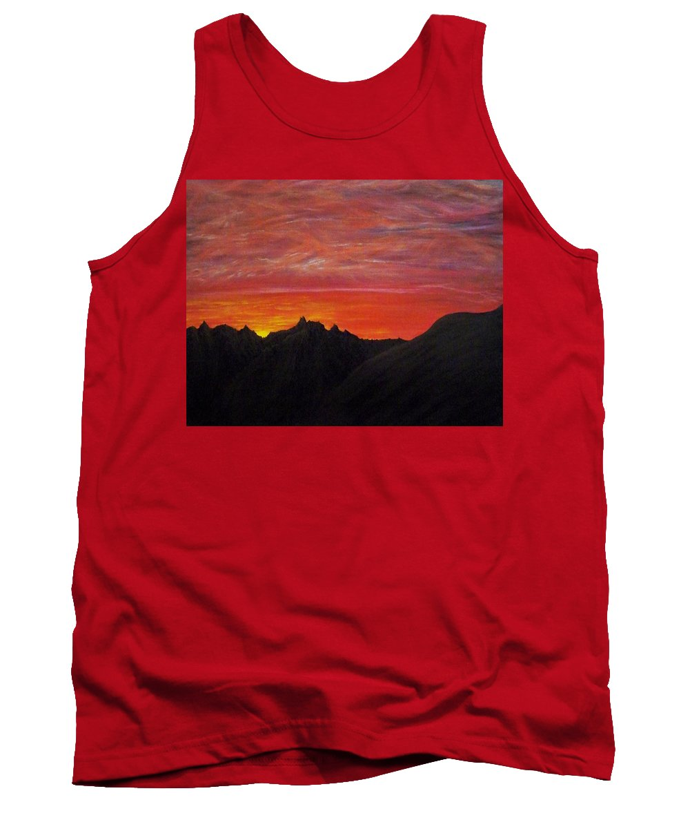 Sunset Tank Top featuring the painting Utah Sunset by Michael Cuozzo