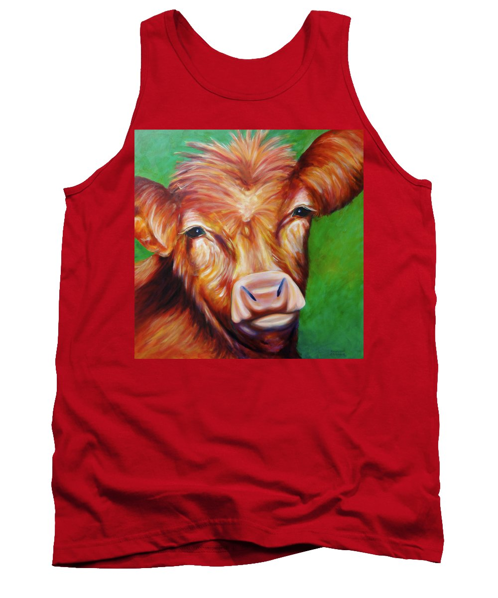 Bull Tank Top featuring the painting Van by Shannon Grissom