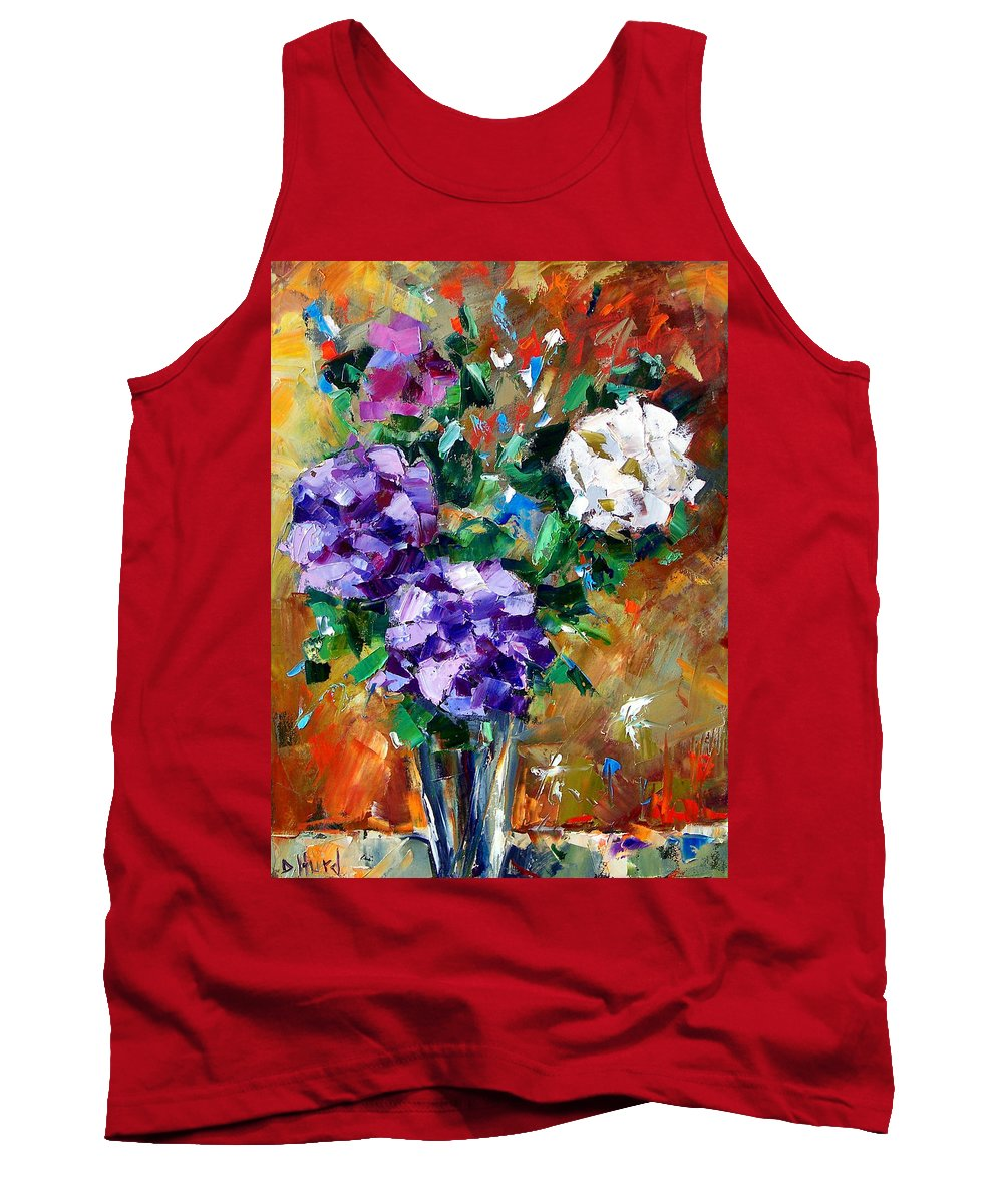 Flowers Tank Top featuring the painting Vase Of Color by Debra Hurd