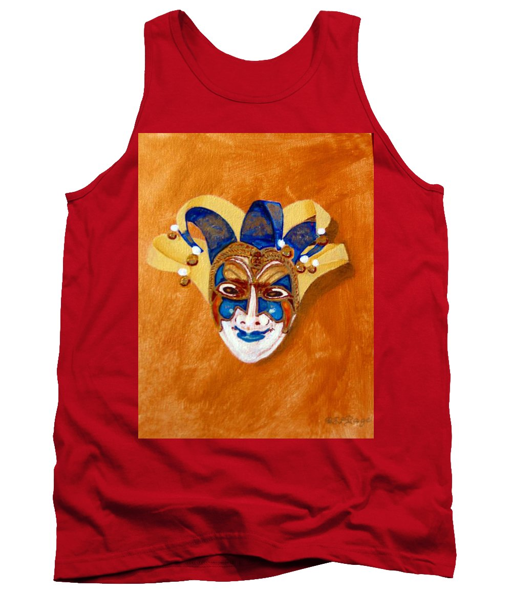 Mask Tank Top featuring the painting Venetian Mask 2 by Richard Le Page