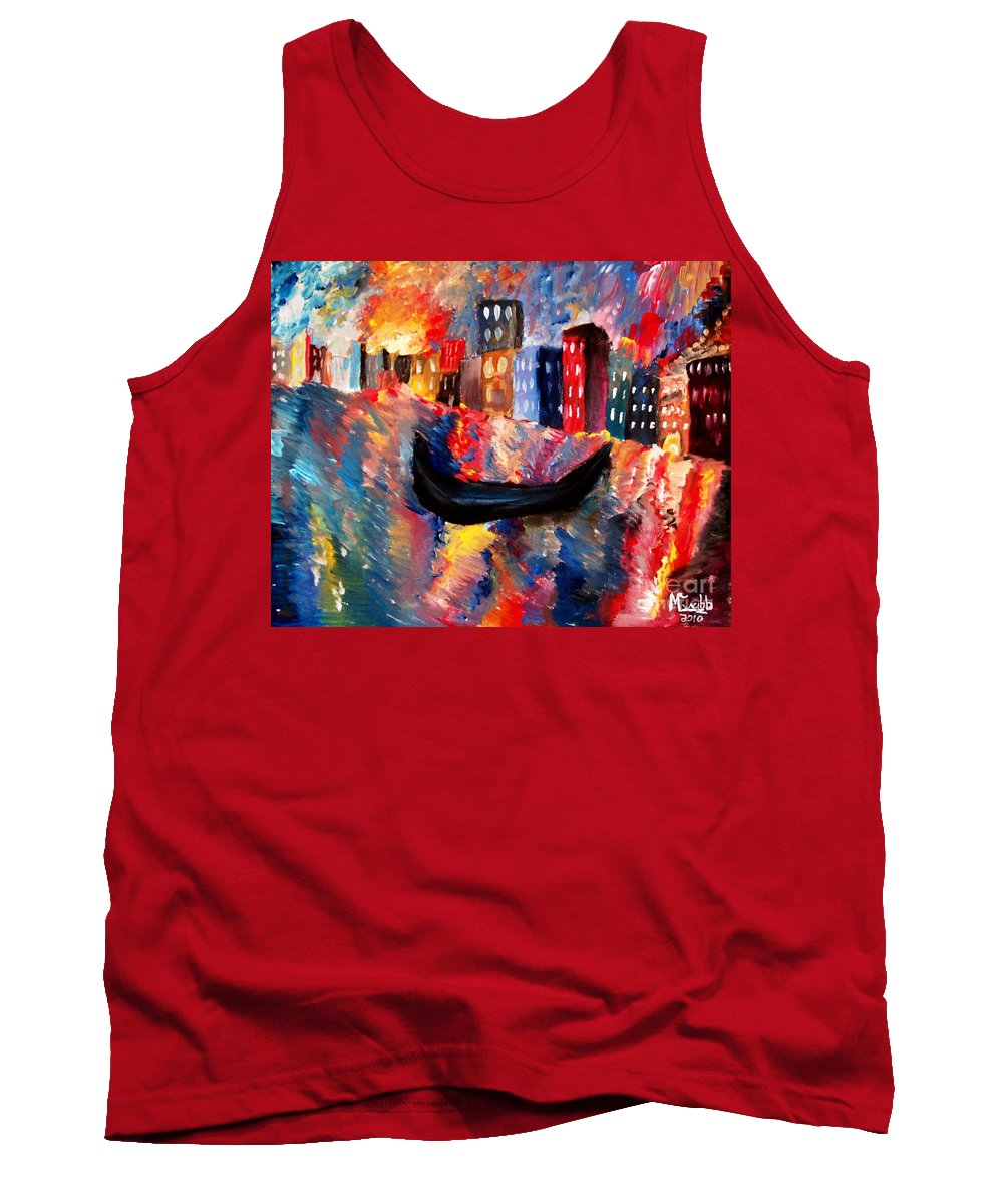 Venice Tank Top featuring the painting Venice By Night by Michael Grubb