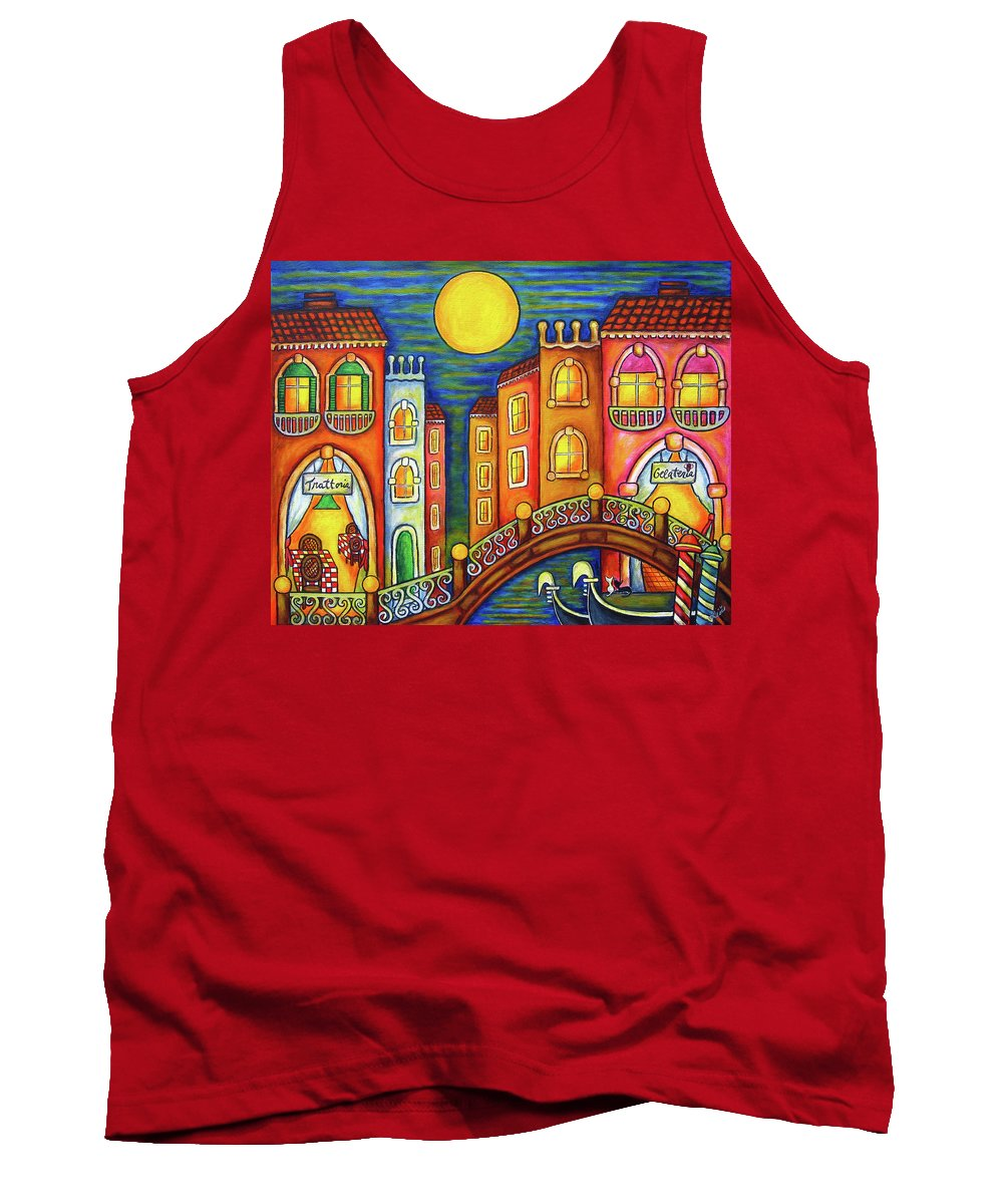 Colourful Tank Top featuring the painting Venice Soiree by Lisa Lorenz