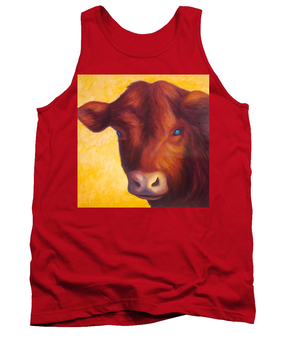 Bull Tank Top featuring the painting Vern by Shannon Grissom