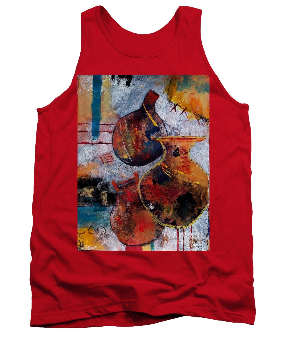 Abstract Expressionism Tank Top featuring the painting Vessels by Donna Frost