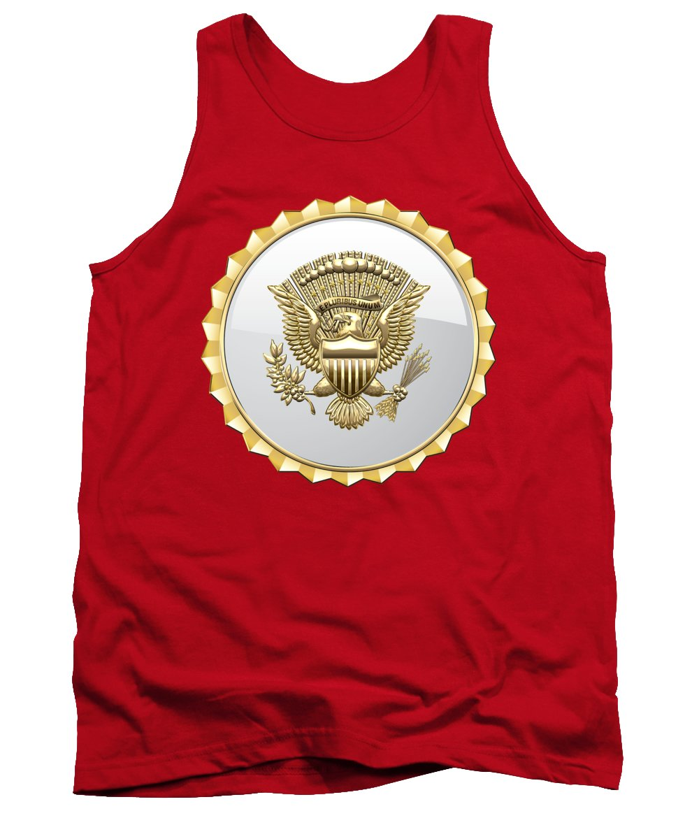 'military Insignia & Heraldry 3d' Collection By Serge Averbukh Tank Top featuring the digital art Vice Presidential Service Badge by Serge Averbukh