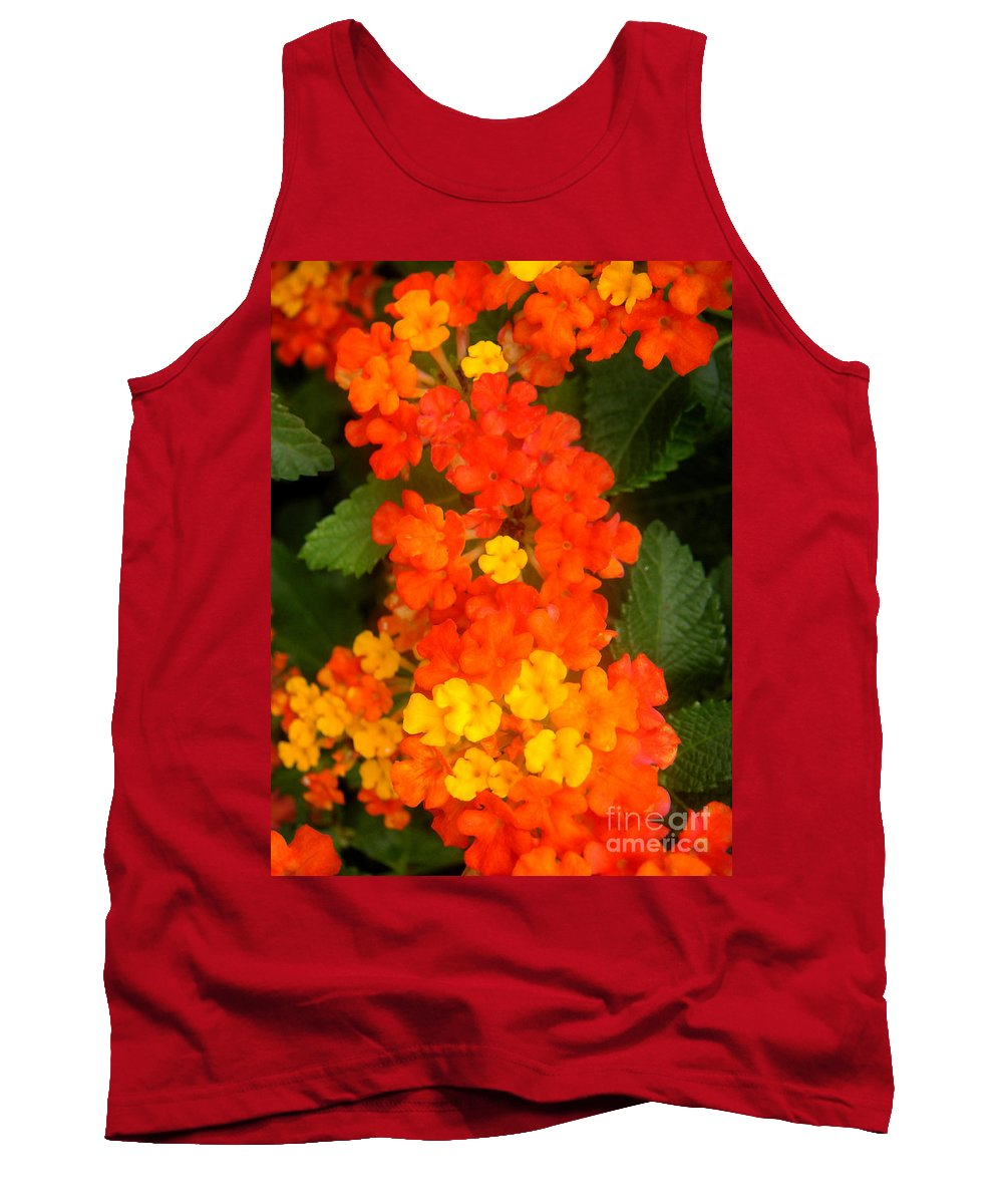 Nature Tank Top featuring the photograph Volcanic Display by Lucyna A M Green