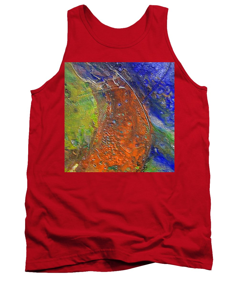 Abstract Tank Top featuring the painting W 028 by Dragica Micki Fortuna