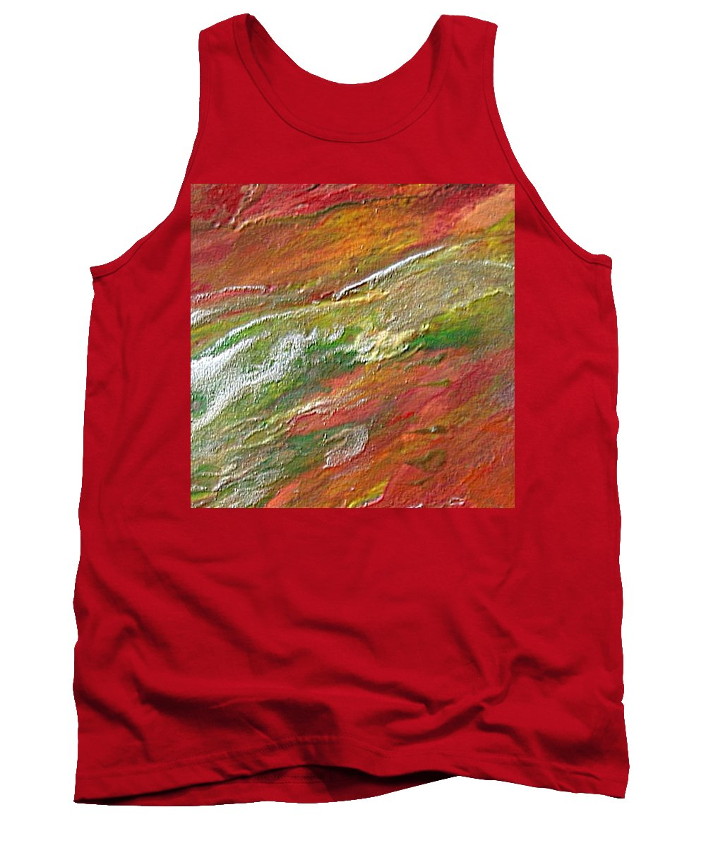 Abstract Tank Top featuring the painting W 037 by Dragica Micki Fortuna