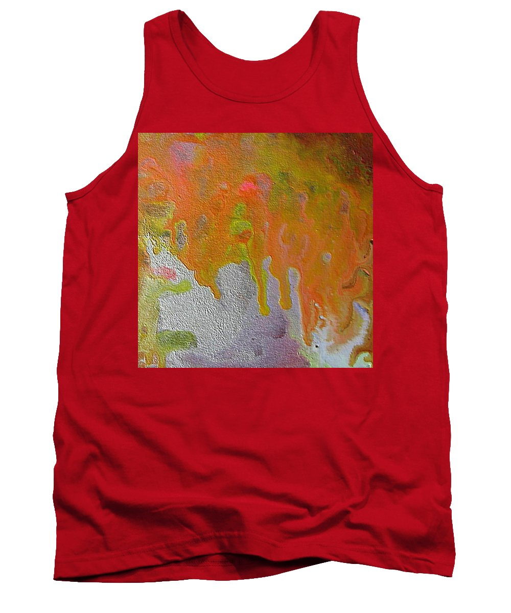 Abstract Encaustic Tank Top featuring the painting W 050 by Dragica Micki Fortuna