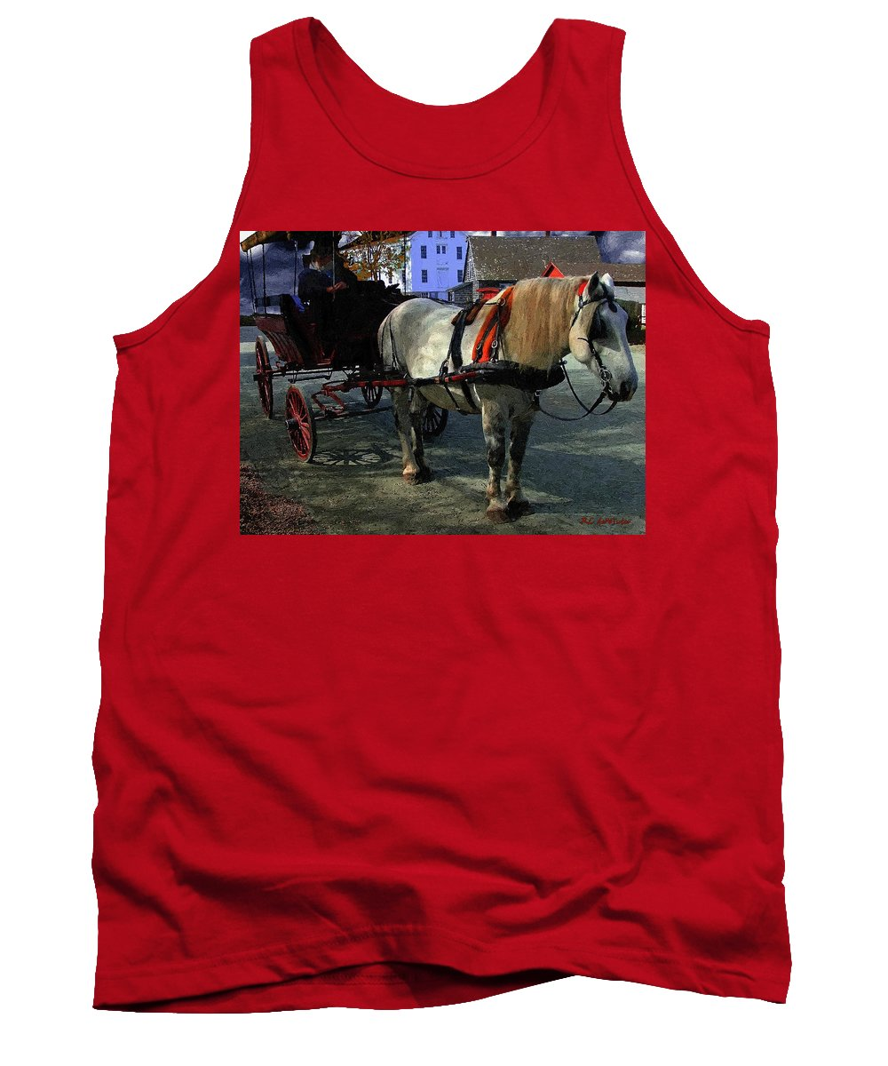 Horse Tank Top featuring the painting Waiting For Madam by RC DeWinter