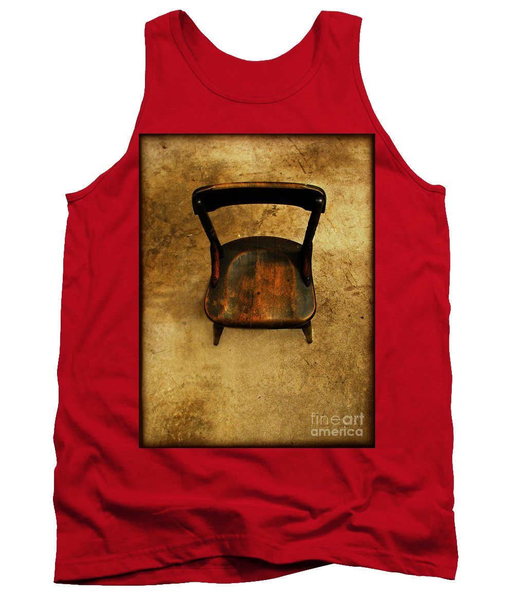 Alone Tank Top featuring the photograph Waiting to Say Goodbye by Dana DiPasquale