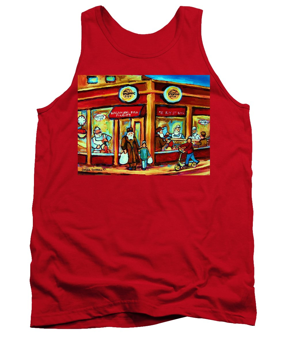 Montreal Tank Top featuring the painting Waldmans In Montreal by Carole Spandau