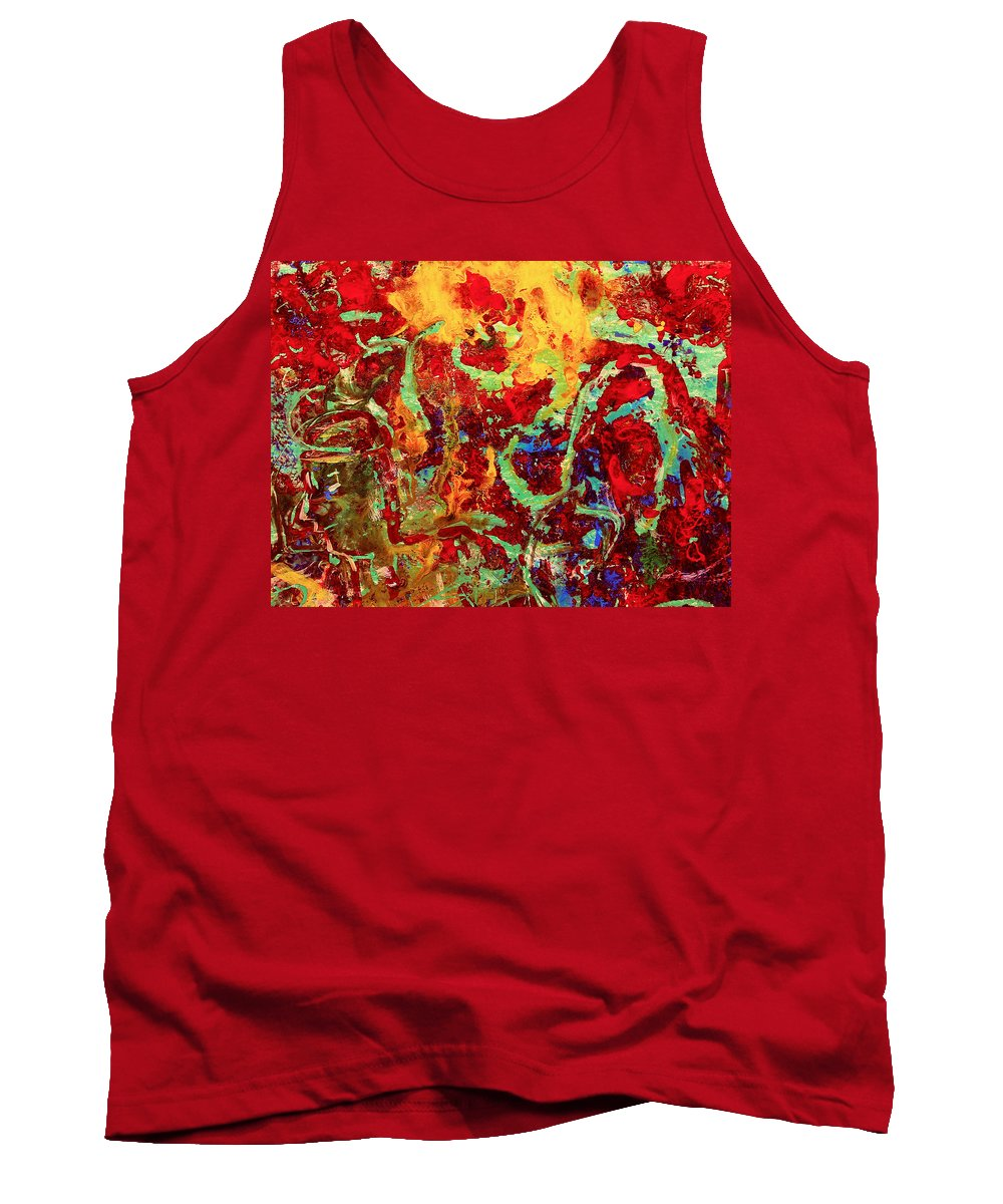 Abstract Tank Top featuring the painting Walking In The Garden by Natalie Holland